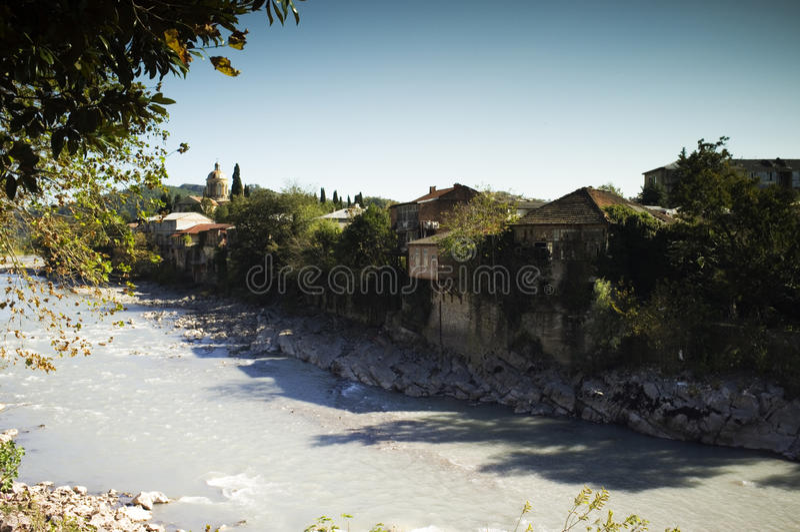 Rioni rzeka, Kutaisi, Gruzja obraz royalty free