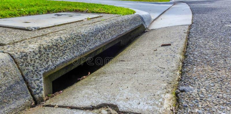Rioolafvoerkanaal stock foto's