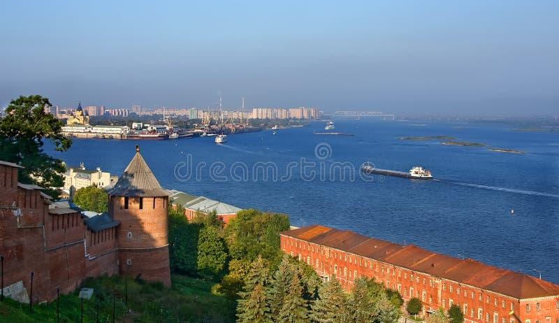 Rios de Volga e de Oka imagem de stock
