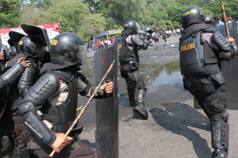 Riot police stock image