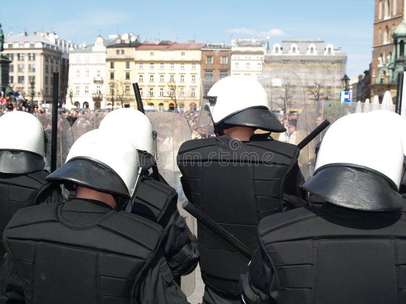 Riot Police At Love Parade Royalty Free Stock Photo
