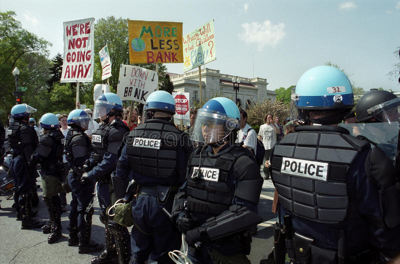 Download Riot Police At Protest Editorial Photography - Image: 13896282