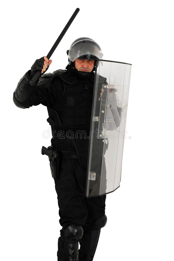 Download Riot policeman attacking stock image. Image of helmet - 11778141