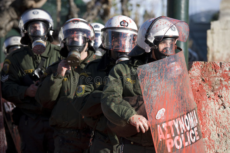 Riots in athens 18_12_08 stock photos