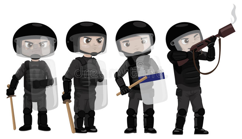 Download Riots Police stock illustration. Illustration of illustration - 25705920