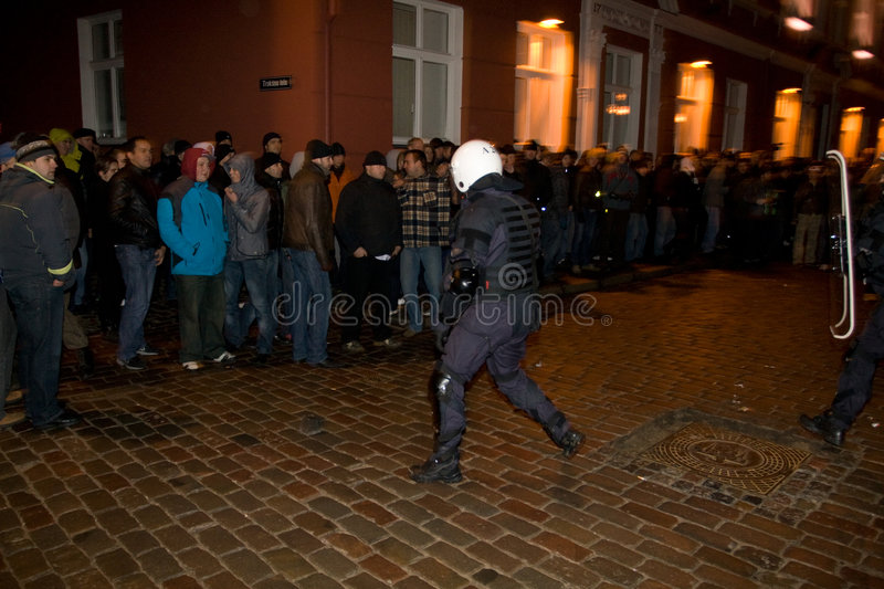 Riots and Police stock photography