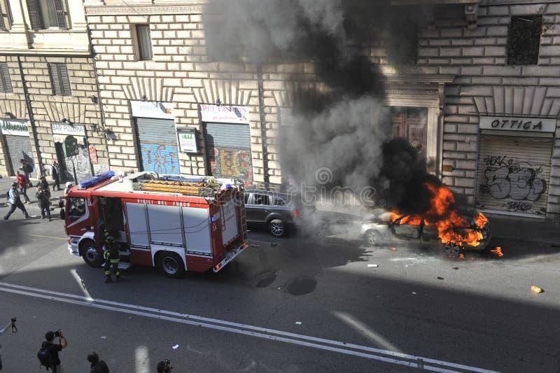 Riots in Rome - Italian Students Protest