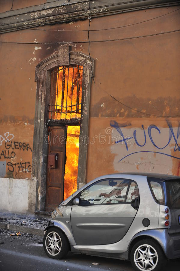 Download Riots In Rome - Italian Students Protest Editorial Stock Photo - Image: 21636983