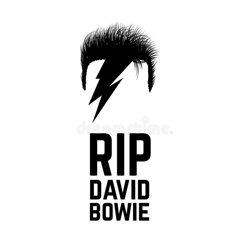 Rip David Bowie. JANUARY 11 2016. Vector illustration