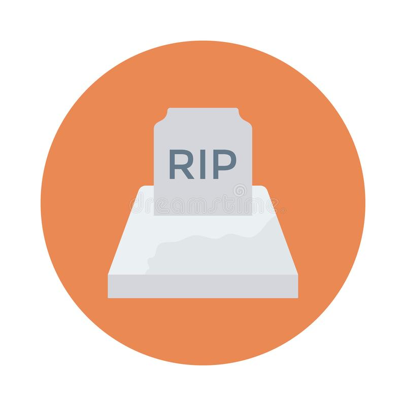 Rip. Flat circle with shadow icon vector illustration