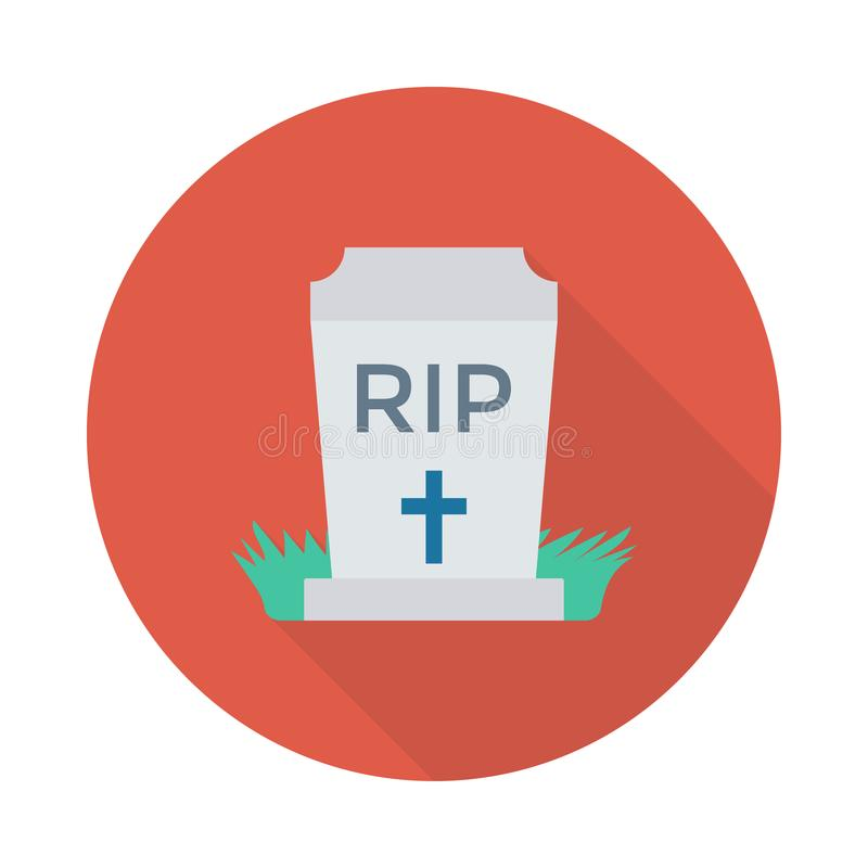 Rip. Flat circle with shadow icon stock illustration