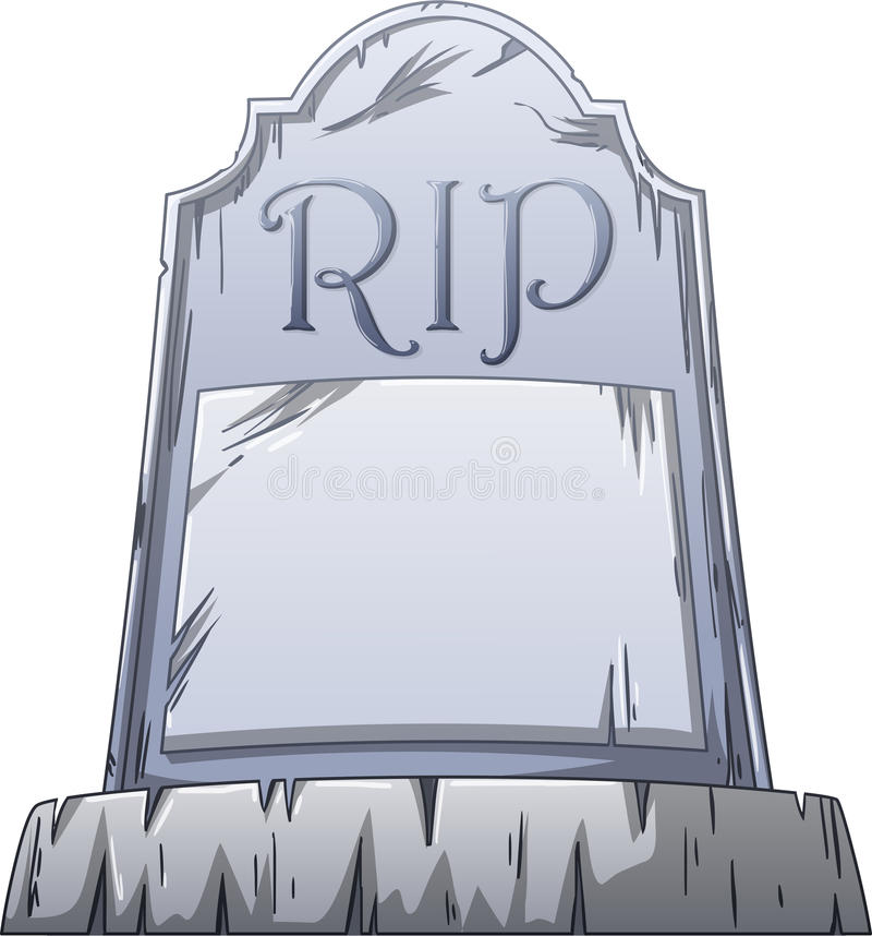 RIP-Graf stock illustratie