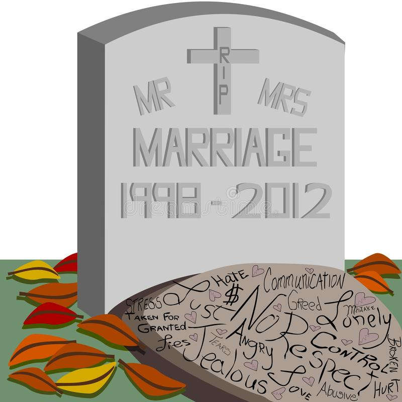 Download RIP Marriage stock vector. Image of abusive, conflict - 24722803