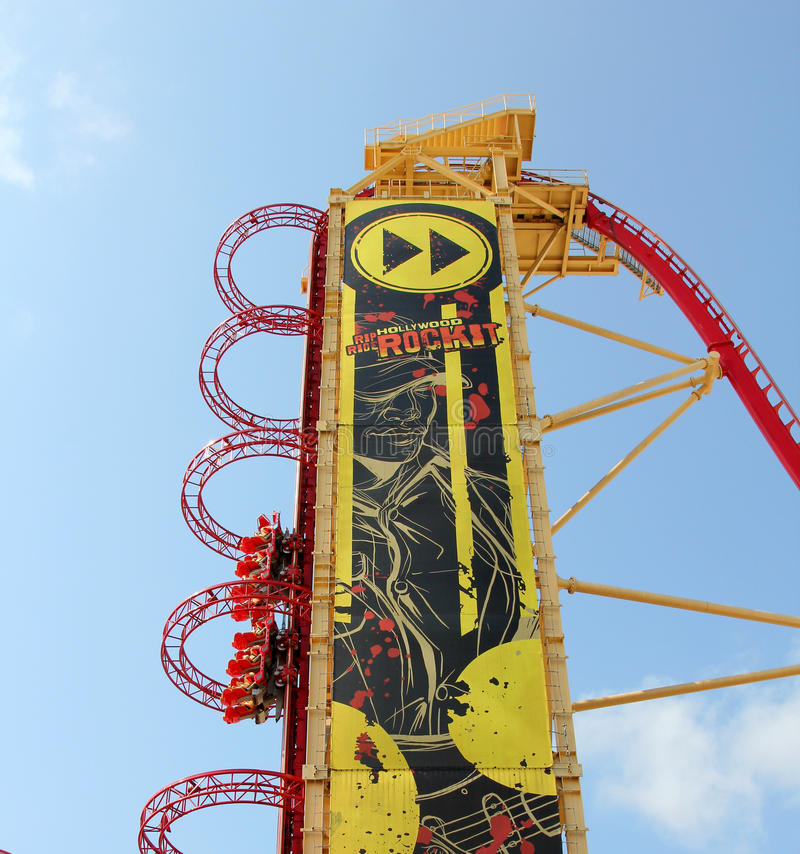 Rip Ride Rockit. In Universal studios stock photos