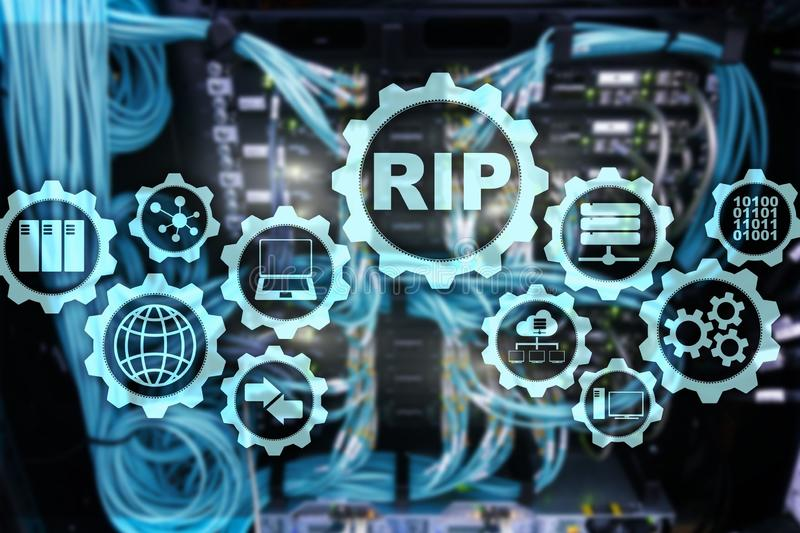 RIP-Routing Information Protocol Technologienetwerken cocept royalty-vrije stock foto's