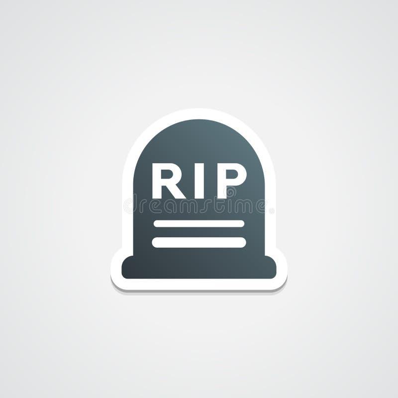 RIP-Sticker vector illustratie