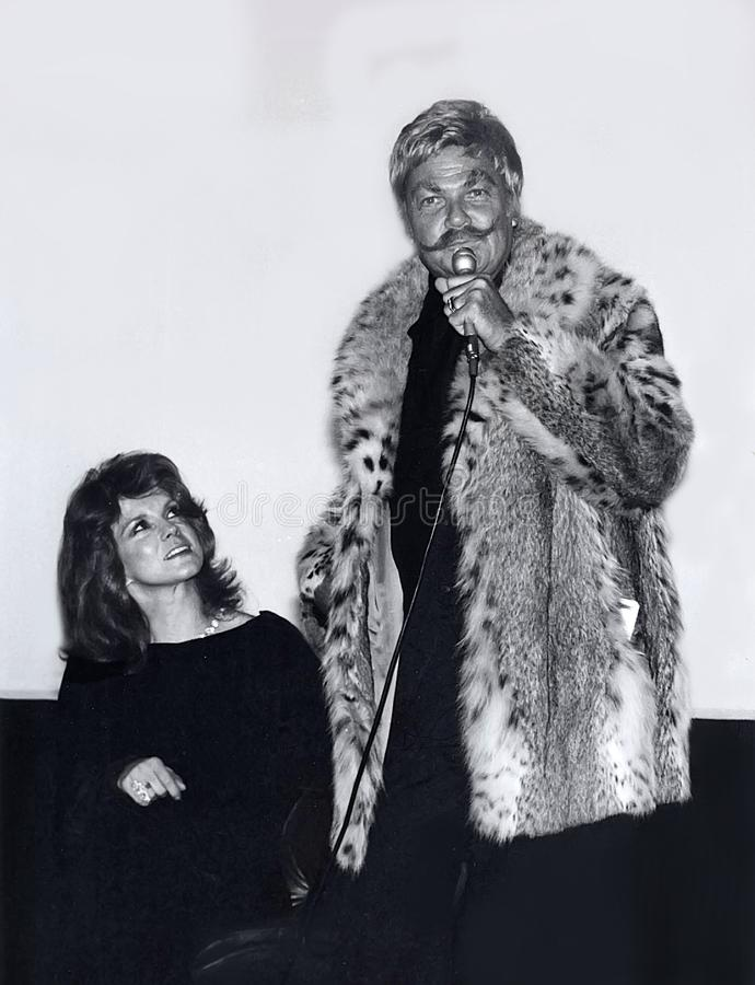 Rip Taylor Joins Ann-Margret stock photo