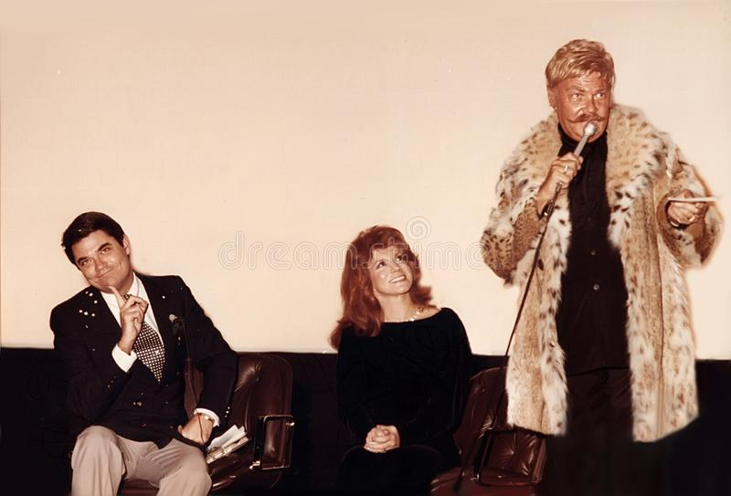 Rip Taylor Joins Rex Reed and Ann-Margret royalty free stock photo