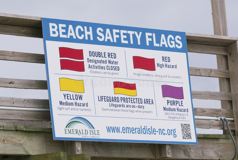 Rip Tide Warning Sign at the Bouge Inlet Pier stock photos