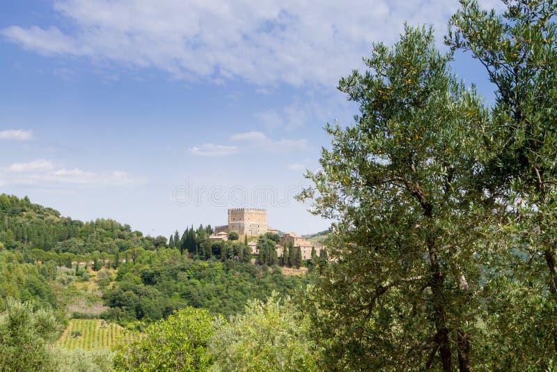 Ripa d' De mening van het Orciakasteel, het oriëntatiepunt van Toscanië, Italië stock afbeeldingen