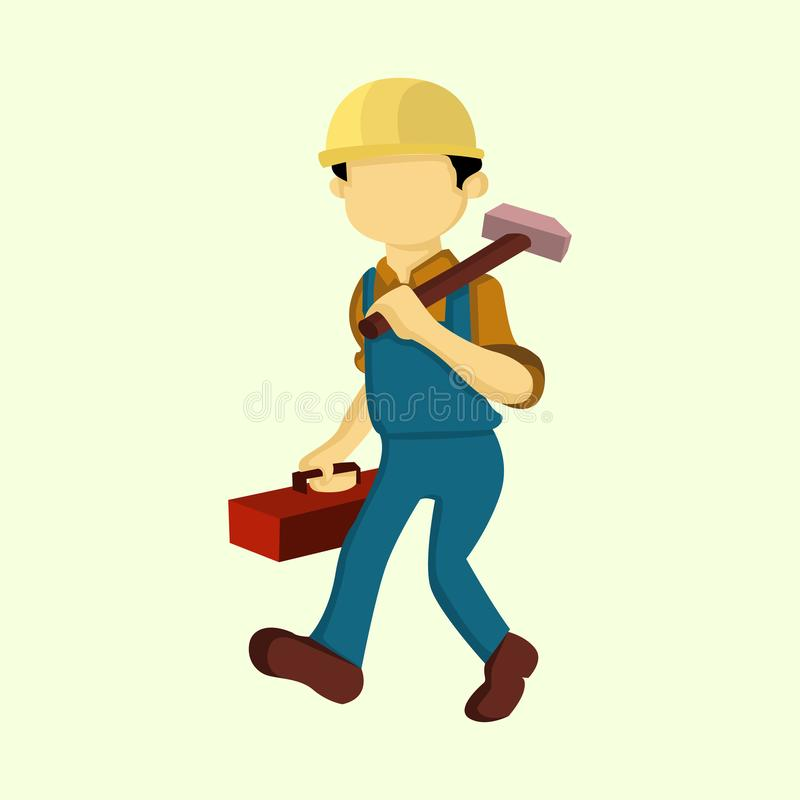 Riparatore Job People Vector Illustration royalty illustrazione gratis