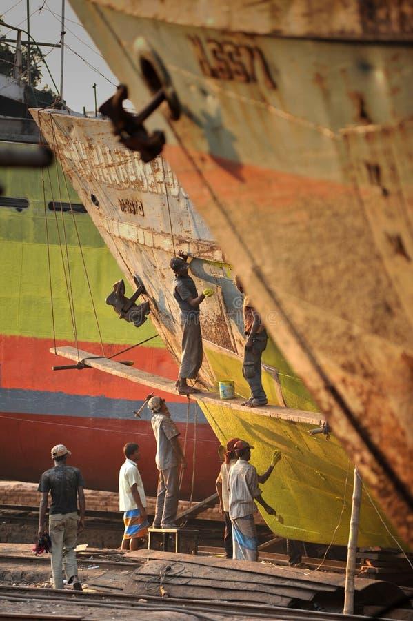 Riparazione della nave fotografie stock