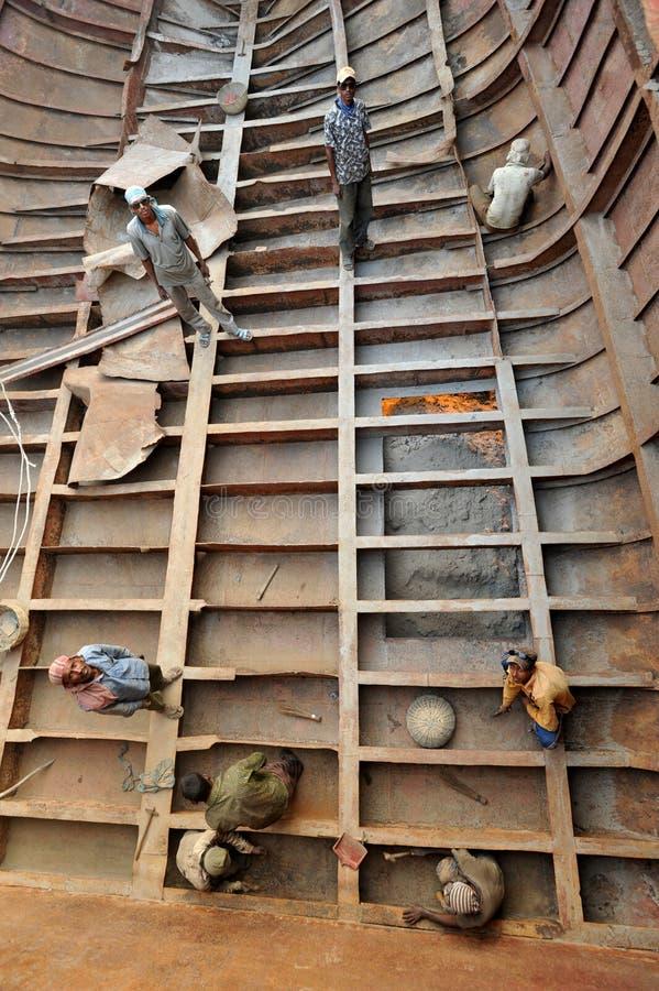 Riparazione della nave fotografia stock