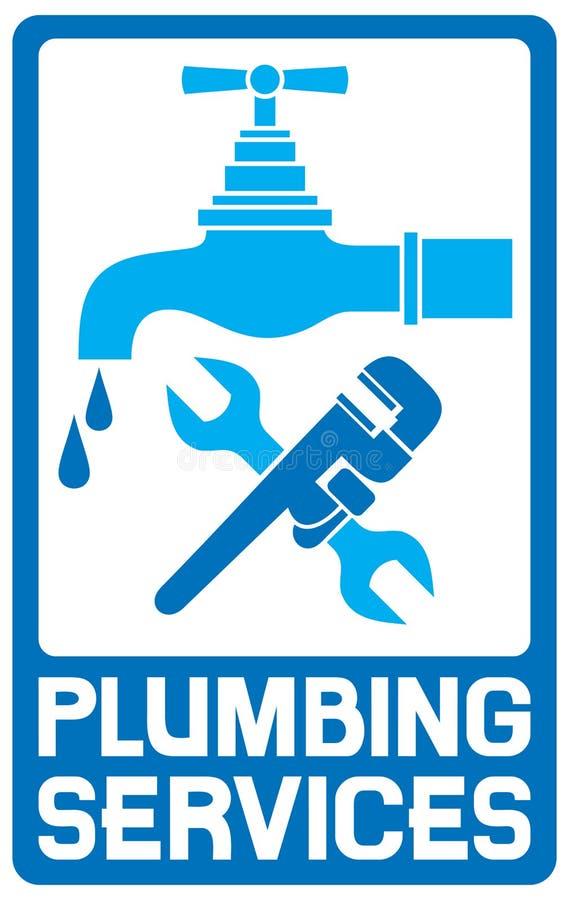 Ripari il simbolo dell'impianto idraulico royalty illustrazione gratis