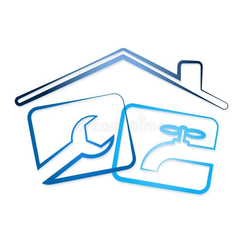 Ripari l 39 impianto idraulico nella casa illustrazione vettoriale illustrazione di vettore - Impianto idraulico casa ...