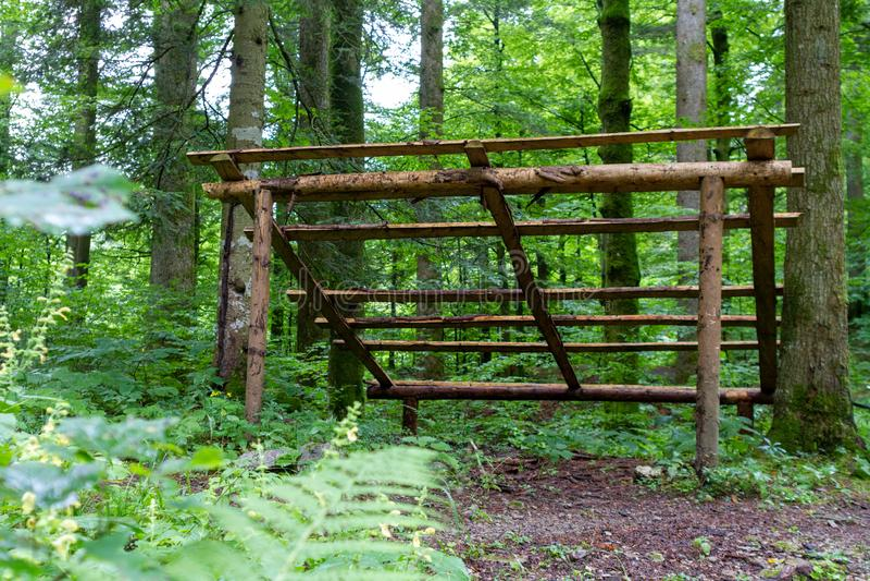 Ripari in legno per la protezione degli animali fotografia stock libera da diritti