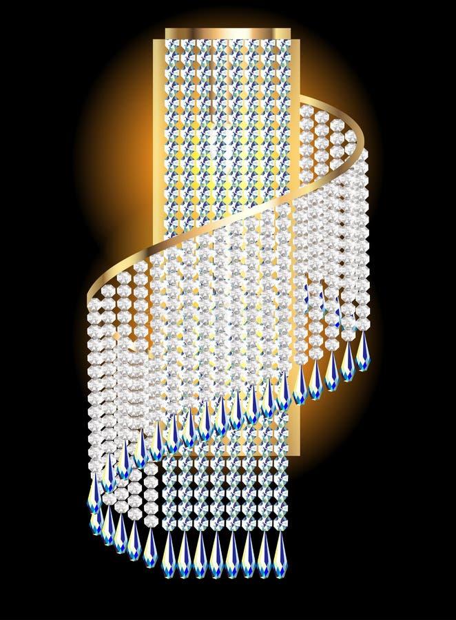 Ripari moderni con i pendenti di cristallo illustrazione di stock