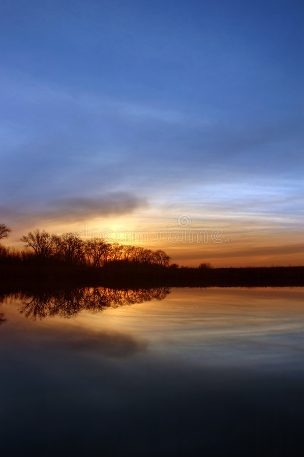 Riparian Sunset royalty free stock photo