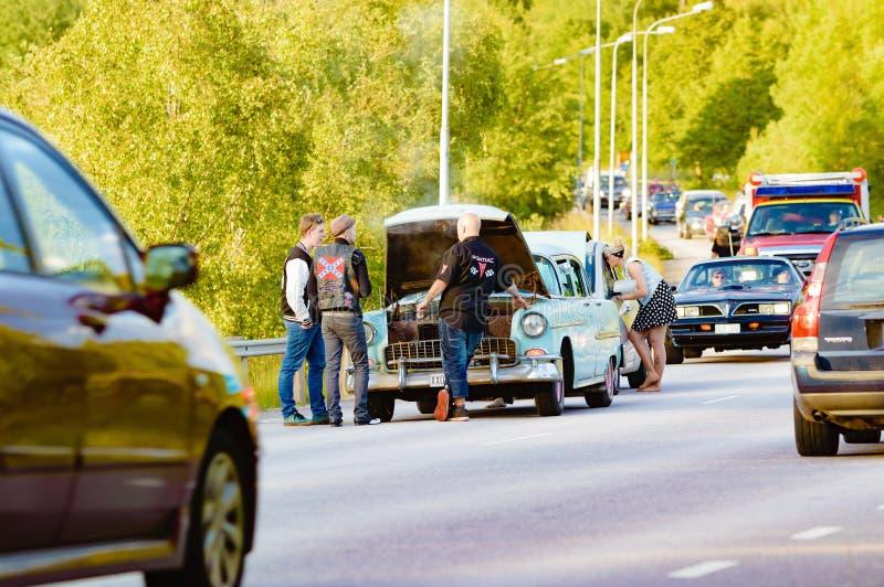 Ripartizione e caos dell'automobile immagine stock