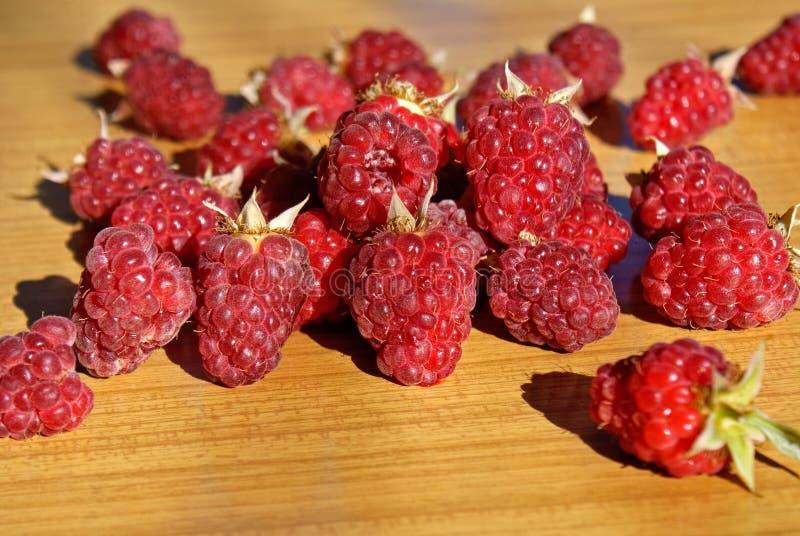 Ripe appetizing raspberry