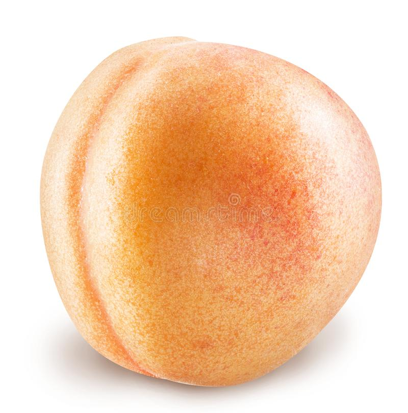 Ripe apricot fruit with water drops. Clipping paths. royalty free stock image