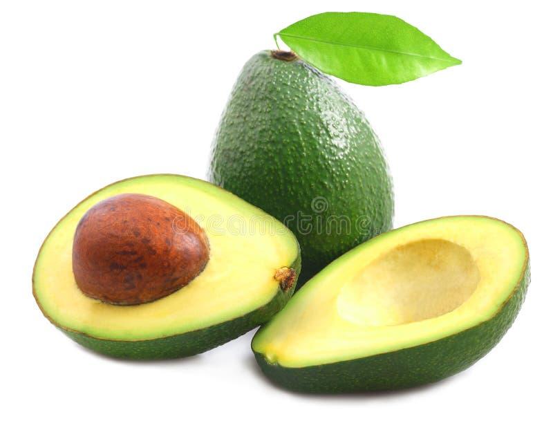 Ripe avocado isolated royalty free stock photo