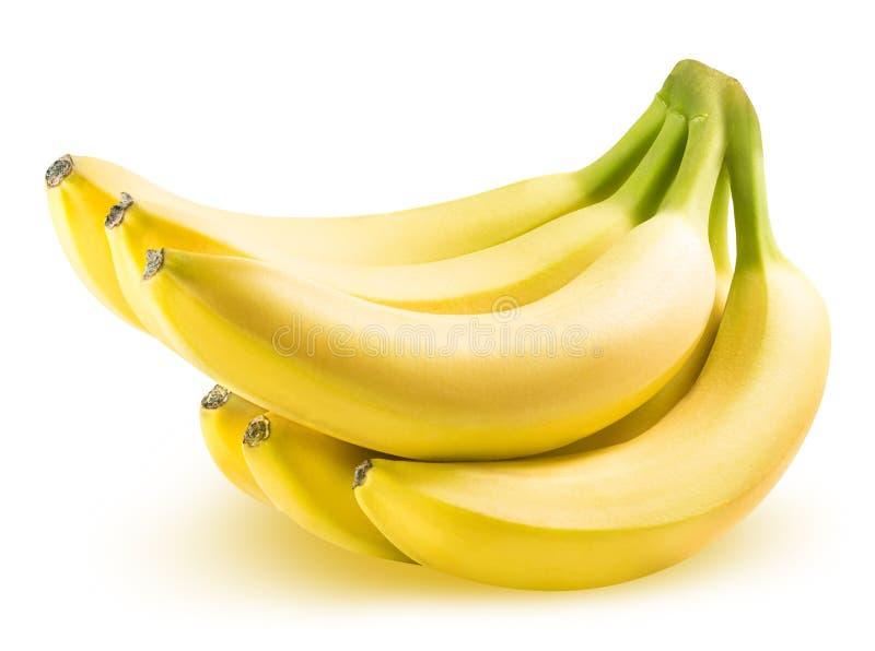 Ripe banana isolated on white background stock images