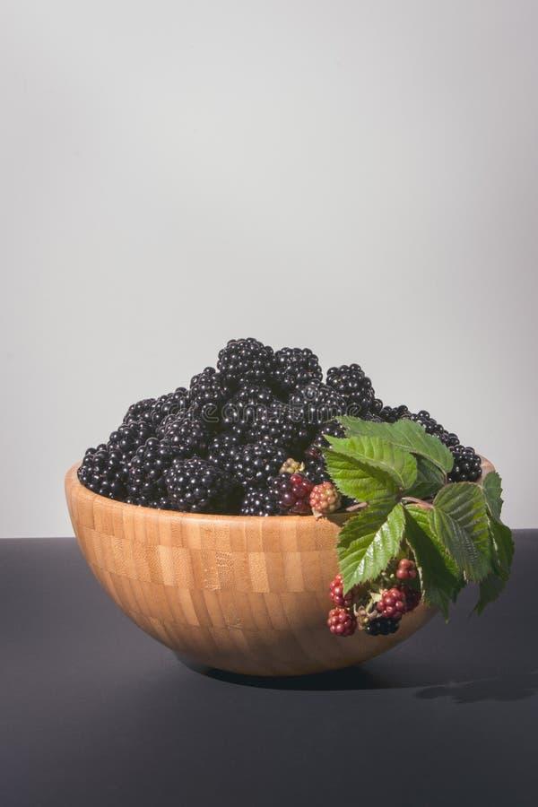 Blackberries grown in the garden, a healthy snack stock photo