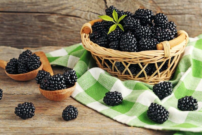 Ripe blackberries royalty free stock image