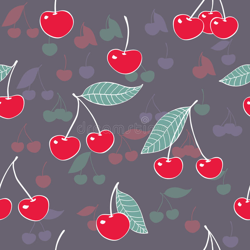 Download Ripe cherries. stock illustration. Illustration of green - 28840750