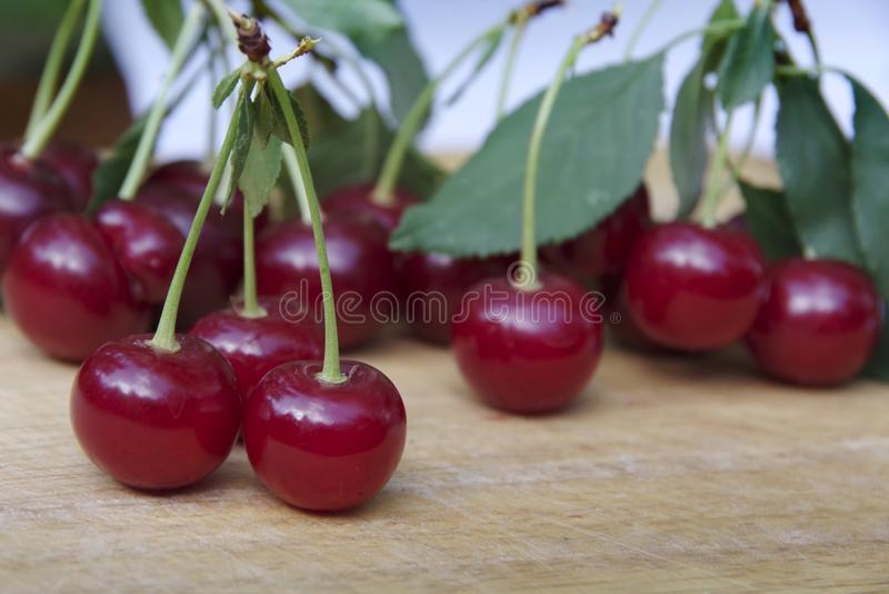 Ripe cherry royalty free stock photos