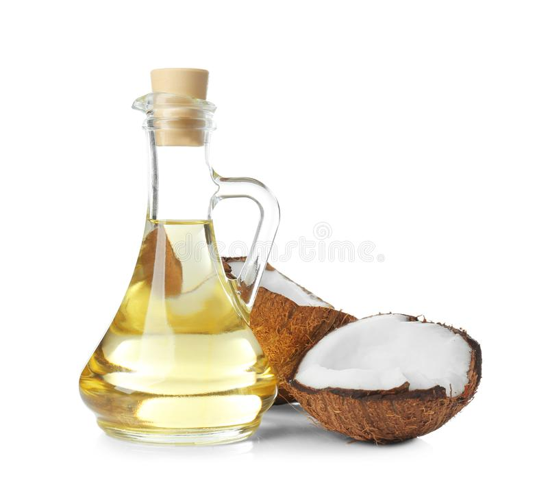 Download Ripe Coconut And Pitcher With Oil Stock Image - Image of object, natural: 105336511