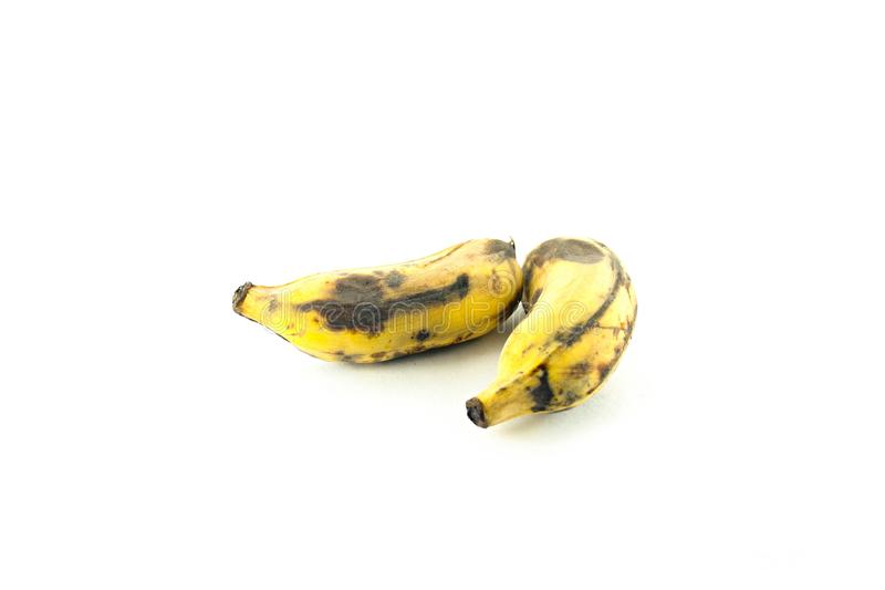 Ripe cultivated banana isolated royalty free stock photography