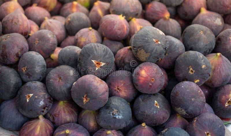 Ripe Fig Frutos no mercado fotografia de stock