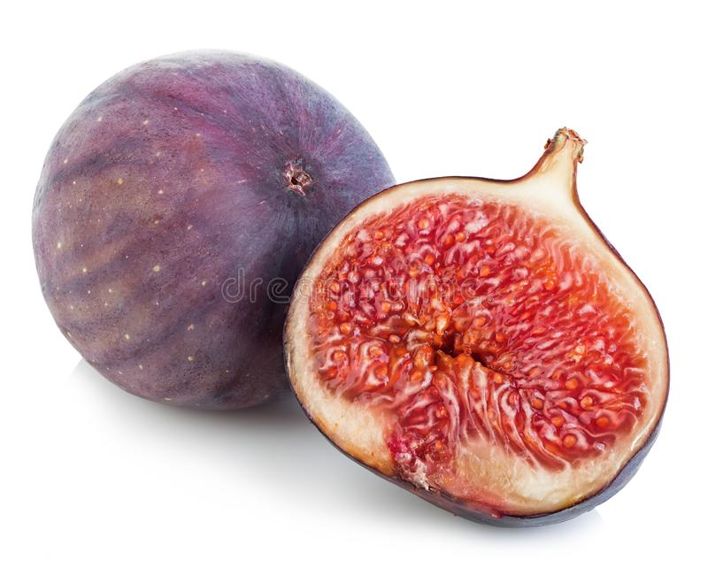 Ripe figs isolated on a white background stock image
