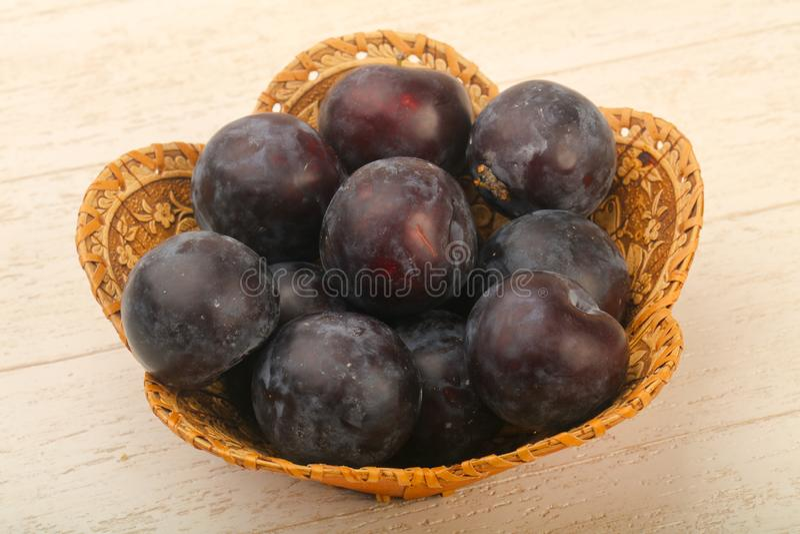 Ripe fresh plums royalty free stock photo
