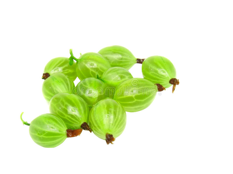 Download Ripe Gooseberry F On White. Stock Photo - Image: 22890312