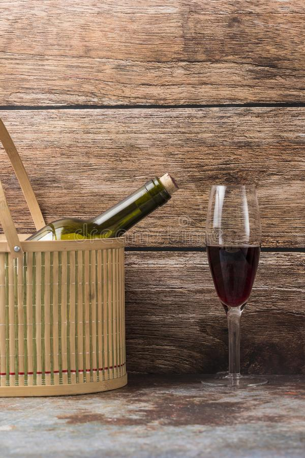 Grapes and wine. Ripe grapes and delicious wine royalty free stock photography