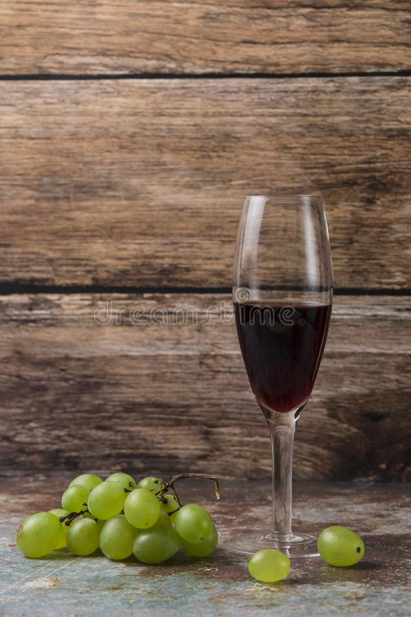 Grapes and wine. Ripe grapes and delicious wine stock photography