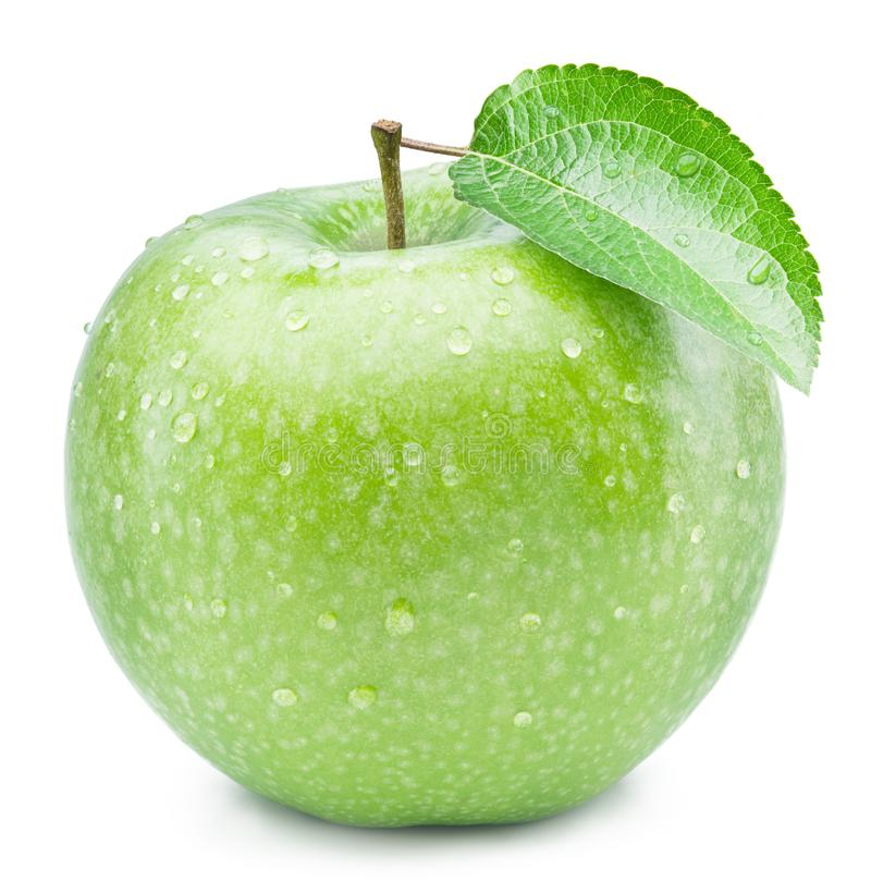Free Ripe Green Apple With Water Drops On It. Stock Photo - 114720940
